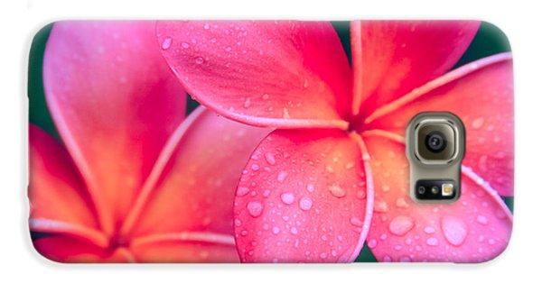 Aloha Hawaii Kalama O Nei Pink Tropical Plumeria Galaxy S6 Case by Sharon Mau
