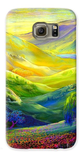 Wildflower Meadows, Amber Skies Galaxy S6 Case