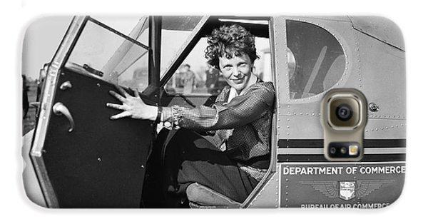 Airplanes Galaxy S6 Case - Amelia Earhart - 1936 by Daniel Hagerman