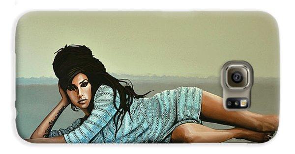 Amy Winehouse 2 Galaxy S6 Case by Paul Meijering