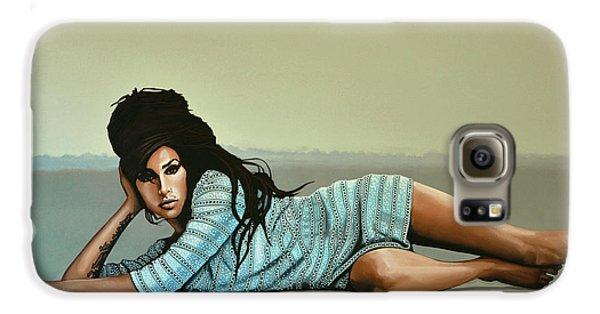 Rhythm And Blues Galaxy S6 Case - Amy Winehouse 2 by Paul Meijering