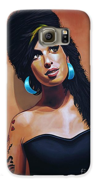 Rhythm And Blues Galaxy S6 Case - Amy Winehouse by Paul Meijering