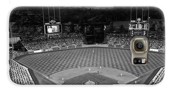 Los Angeles Dodgers Galaxy S6 Case - An Evening Game At Dodger Stadium by Mountain Dreams