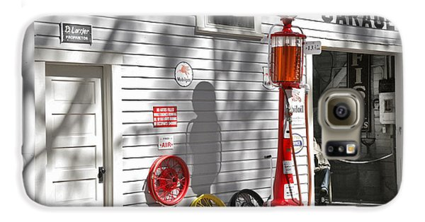 Automobile Galaxy S6 Case - An Old Village Gas Station by Mal Bray