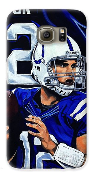 Andrew Luck Galaxy S6 Case by Chris Eckley