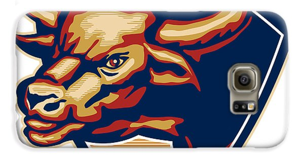 Angry Bull Head Crest Retro Galaxy S6 Case