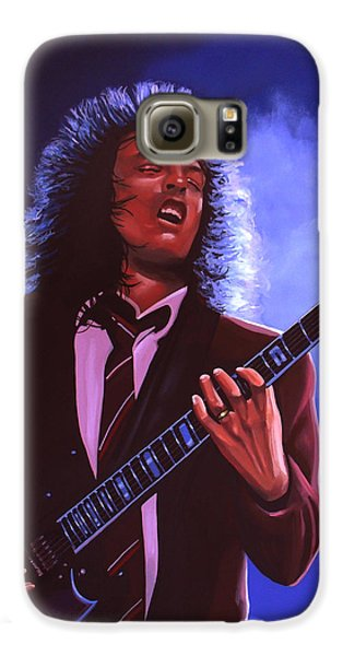 Rock And Roll Galaxy S6 Case - Angus Young Of Ac / Dc by Paul Meijering