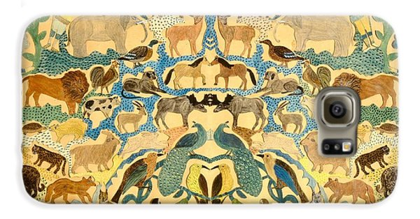 Antique Cutout Of Animals  Galaxy S6 Case by American School