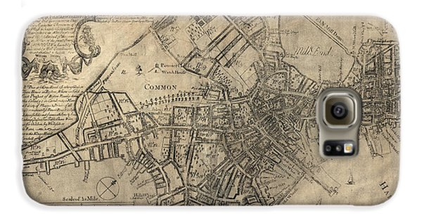 Antique Map Of Boston By William Price - 1769 Galaxy S6 Case