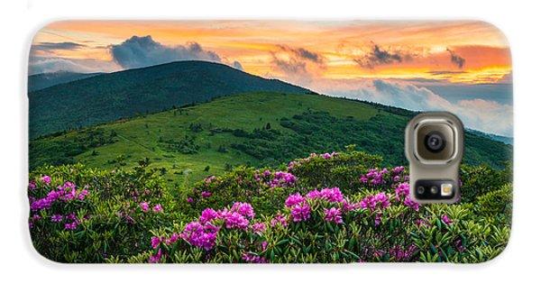 Mountain Sunset Galaxy S6 Case - North Carolina Appalachian Trail Roan Mountain Highlands by Dave Allen