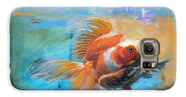 Goldfish Galaxy S6 Case - Aqua Gold by Catf