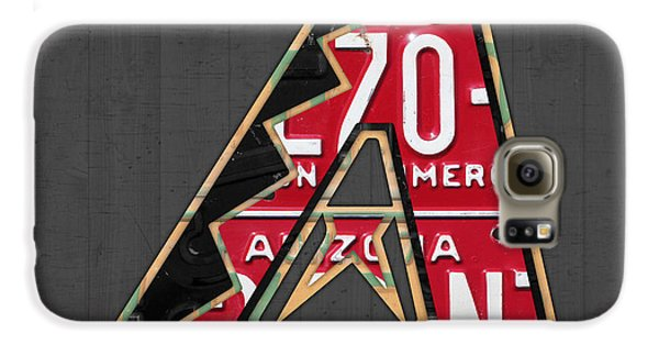 Arizona Diamondbacks Baseball Team Vintage Logo Recycled License Plate Art Galaxy S6 Case by Design Turnpike