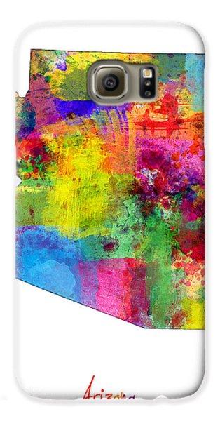 Arizona Map Galaxy S6 Case by Michael Tompsett