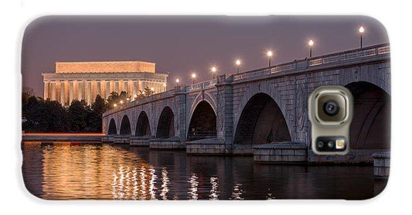 Lincoln Memorial Galaxy S6 Case - Arlington Memorial Bridge by Eduard Moldoveanu
