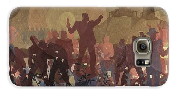 Harlem Galaxy S6 Case - Aspects Of Negro Life by New York Public Library/aaron Douglas