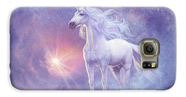 Extinct And Mythical Galaxy S6 Case - Astral Unicorn by Steve Read