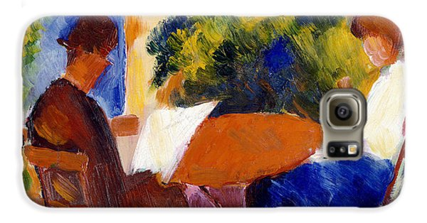 Garden Galaxy S6 Case - At The Garden Table by August Macke