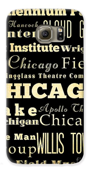 Attractions And Famous Places Of Chicago Illinois Galaxy S6 Case by Joy House Studio