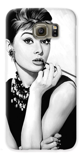 Audrey Hepburn Artwork Galaxy S6 Case by Sheraz A