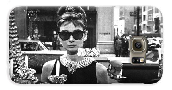 Audrey Hepburn Breakfast At Tiffany's Galaxy S6 Case by Georgia Fowler