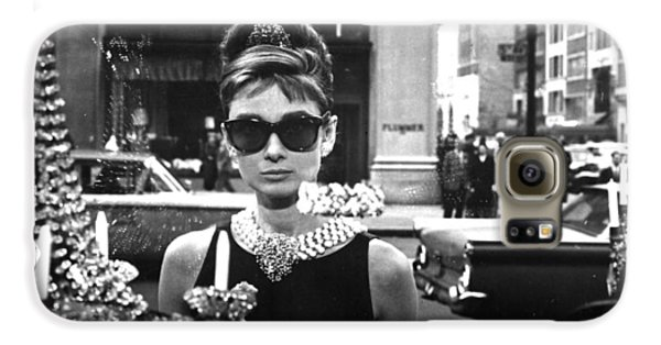 Actors Galaxy S6 Case - Audrey Hepburn Breakfast At Tiffany's by Georgia Fowler