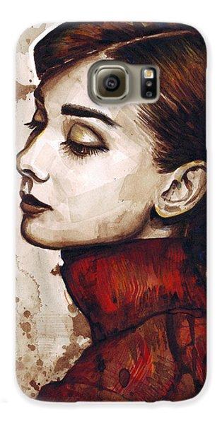 Audrey Hepburn Galaxy S6 Case by Olga Shvartsur