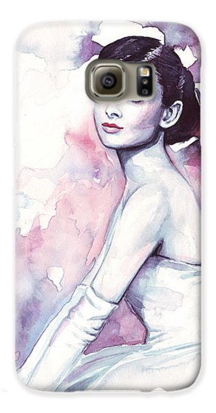 Audrey Hepburn Galaxy S6 Case - Audrey Hepburn Portrait by Olga Shvartsur