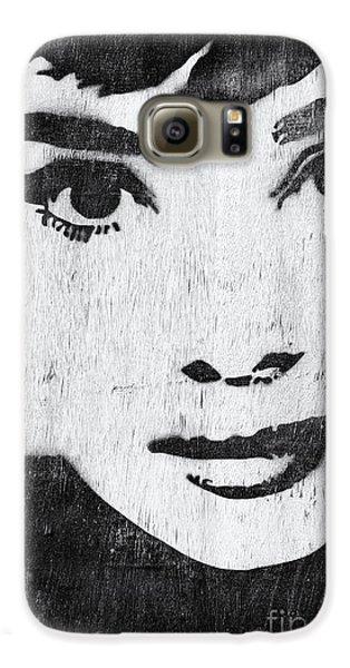 Audrey Hepburn Galaxy S6 Case by Tim Gainey
