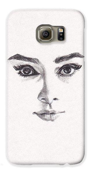 Audrey Galaxy S6 Case by Lee Ann Shepard