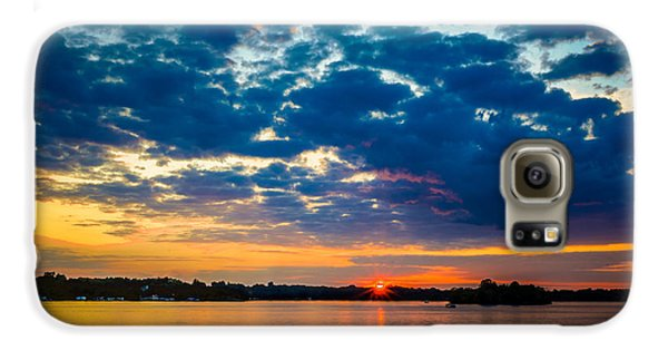 August Sunset Over Lake Nagawicka Galaxy S6 Case by Randy Scherkenbach