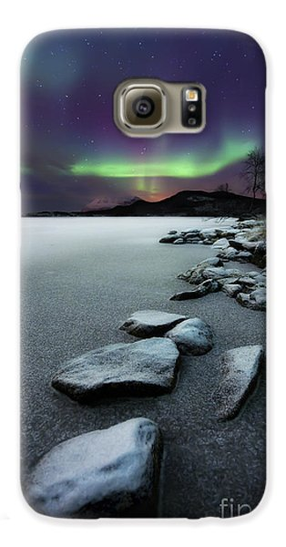 Aurora Borealis Over Sandvannet Lake Galaxy S6 Case