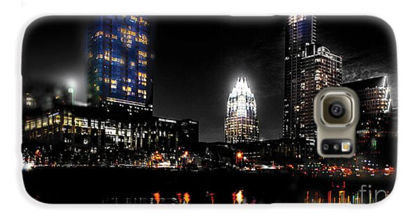 Austin Night Skyline Reflections  Galaxy S6 Case by Gary Gibich