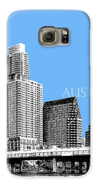 Austin Skyline - Sky Blue Galaxy S6 Case by DB Artist