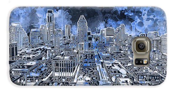 Austin Texas Abstract Panorama 5 Galaxy S6 Case
