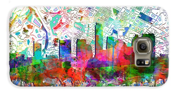 Austin Texas Abstract Panorama 7 Galaxy S6 Case