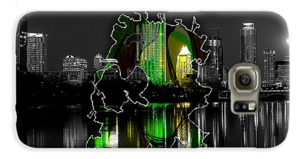 Austin Texas Map And Skyline Watercolor Galaxy S6 Case