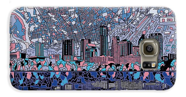 Austin Texas Skyline 3 Galaxy S6 Case