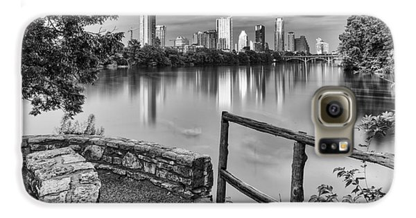 Austin Texas Skyline Lou Neff Point In Black And White Galaxy S6 Case by Silvio Ligutti