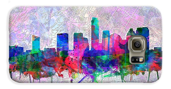 Austin Texas Skyline Watercolor 2 Galaxy S6 Case