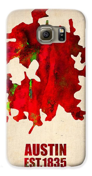 Austin Watercolor Map Galaxy S6 Case