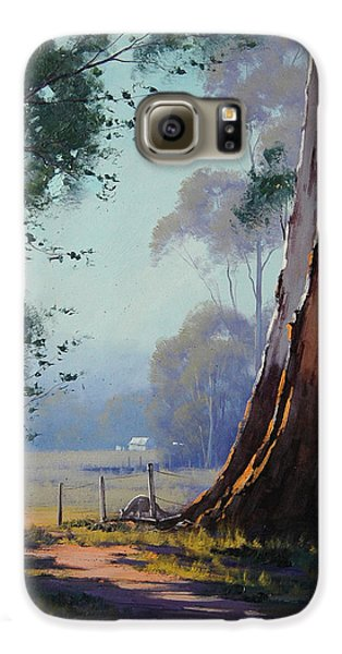 Kangaroo Galaxy S6 Case - Australian Farm Painting by Graham Gercken