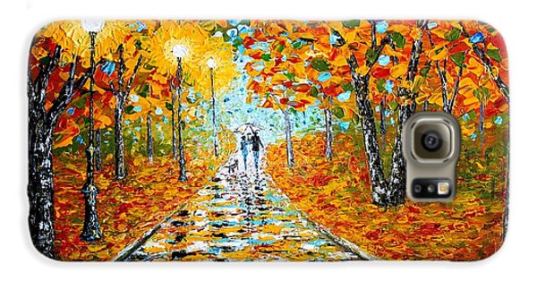 Galaxy S6 Case featuring the painting Autumn Beauty Original Palette Knife Painting by Georgeta  Blanaru