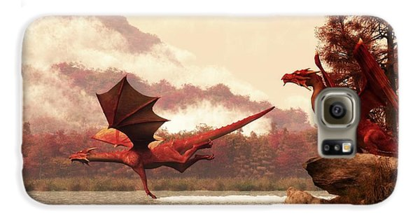 Dungeon Galaxy S6 Case - Autumn Dragons by Daniel Eskridge