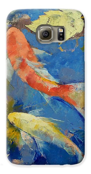 Autumn Koi Garden Galaxy S6 Case by Michael Creese