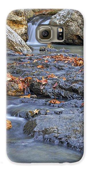 Autumn Leaves At Little Missouri Falls - Arkansas - Waterfall Galaxy S6 Case