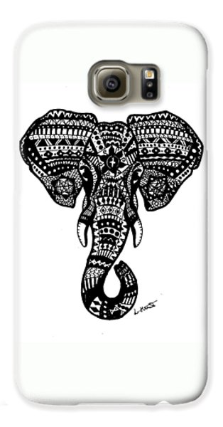Aztec Elephant Head Galaxy S6 Case
