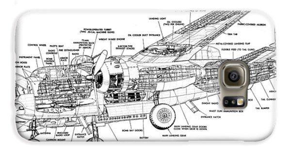 B25 Mitchell Schematic Diagram Galaxy S6 Case