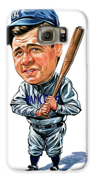 Babe Ruth Galaxy S6 Case by Art
