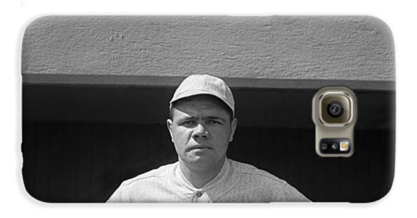 Babe Ruth In Red Sox Uniform Galaxy S6 Case by Underwood Archives