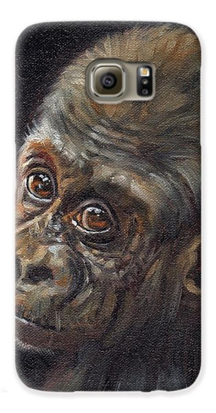 Gorilla Galaxy S6 Case - Baby Gorilla by David Stribbling